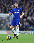 Danny Drinkwater of Chelsea during the premier league match at Stamford Bridge Stadium, London. Picture date 30th December 2017. Picture credit should read: Robin Parker/Sportimage