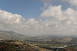 Samaria, a view of Michmetat valley as seen from Tapuach, Mount Gerizim in the background