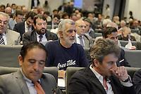 Roma, 3 Luglio 2014<br /> Convegno e assemblea dell'Anci<br /> L'associazione dei Comuni italiani per l'innovazione.<br /> Nella foto Renato Accorinti sindaco di Messina con una maglia free Tibet