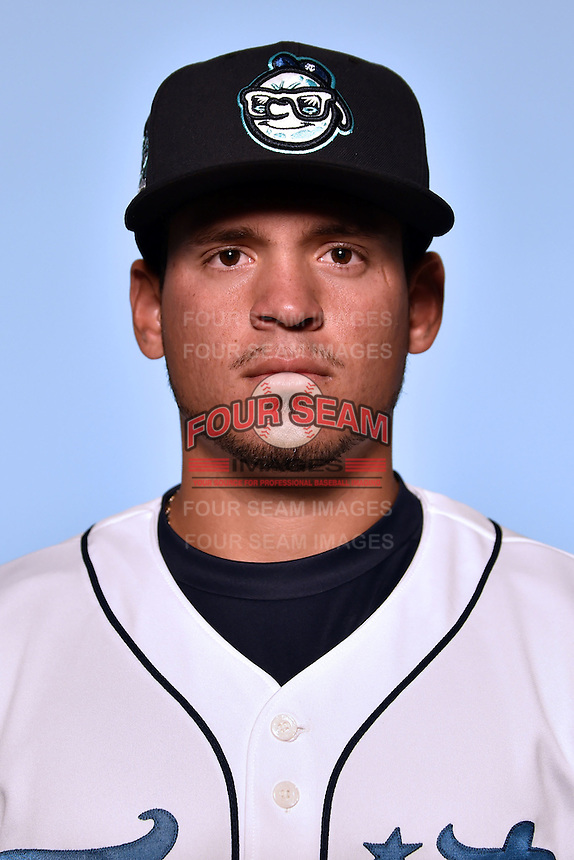 Asheville Tourists pitcher Helmis Rodriguez (33) on April 7, 2015 in Asheville, North Carolina. (Tony Farlow/Four Seam Images)