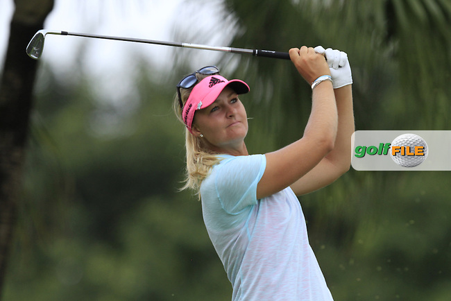 Anna Nordqvist (SWE) on the 2nd tee during Round 4 of the HSBC Women's Champions at the Sentosa Golf Club, The Serapong Course in Singapore on Sunday 8th March 2015.<br /> Picture:  Thos Caffrey / www.golffile.ie
