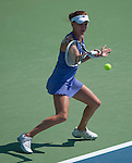 Agnieszka Radwanska (POL) moves on  at the Western and Southern Financial Group Masters Series in Cincinnati on August 15, 2012