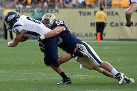 Pitt defensive linebacker Max Gruder. The Pitt Panthers beat the Maine Black Bears 35-29 at Heinz Field, Pittsburgh, PA on September 10, 2011.