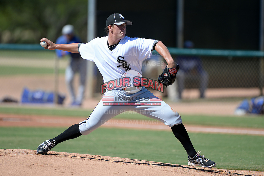 Chicago White Sox pitcher Thad Lowry (50) during an Instructional League game against the Los Angeles Dodgers on October 8, 2013 at Camelback Ranch Complex in Glendale, Arizona.  (Mike Janes/Four Seam Images)