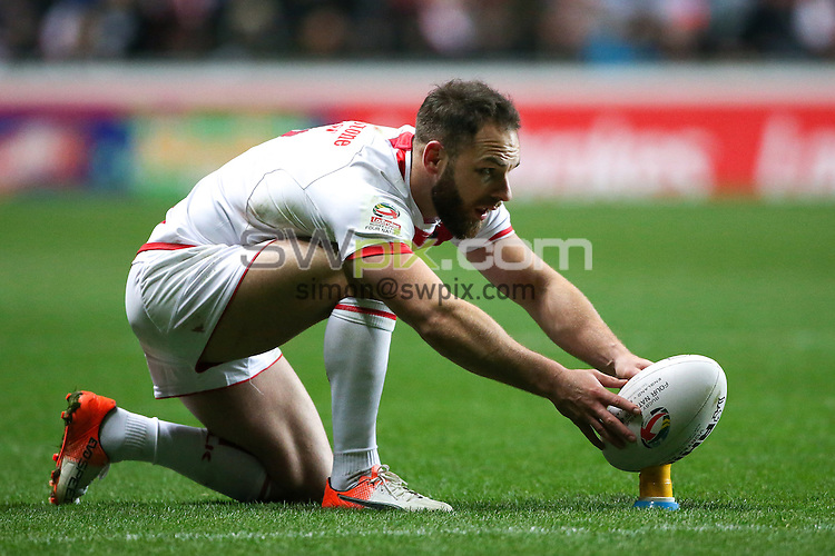 Picture by Alex Whitehead/SWpix.com - 05/11/16 - Rugby League - 2016 Ladbrokes Four Nations - England v Scotland - Ricoh Arena, Coventry, England - England's Luke Gale.
