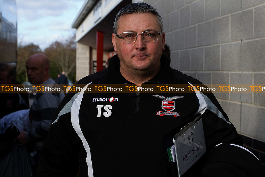 Redbridge manager Terry Spillane departs from the team bus- Crawley Town vs Redbridge - FA Cup 2nd Round Football at Broadfield Stadium, Crawley - 03/12/11 - MANDATORY CREDIT: George Phillipou/TGSPHOTO - Self billing applies where appropriate - 0845 094 6026 - contact@tgsphoto.co.uk - NO UNPAID USE.