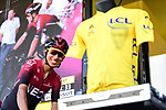 Egan Bernal (COL) Team Ineos at sign on before the start of Stage 1 of the 2019 Tour de France running 194.5km from Brussels to Brussels, Belgium. 6th July 2019.<br /> Picture: ASO/Alex Broadway | Cyclefile<br /> All photos usage must carry mandatory copyright credit (© Cyclefile | ASO/Alex Broadway)