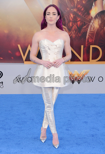"""25 May 2017 - Hollywood, California - Caity Lotz. World  Premiere of Warner Bros. Pictures'  """"Wonder Woman"""" held at The Pantages Theater in Hollywood. Photo Credit: Birdie Thompson/AdMedia"""