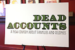 Theatre Poster at the Meet & Greet the cast of the new Broadway Play 'Dead Accounts' on October 12, 2012 in New York City.