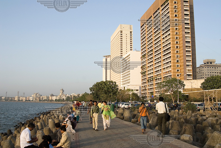 Marina Drive promenade at Colaba, the coastal district.