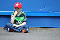 Swansea fan  during the Barclays Premier League match between  Chelsea and Swansea  played at Stamford Bridge, London