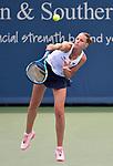 Karolina Pliskova plays Svetlana Kuznetsova (RUS)at the Western & Southern Open being played on August  16, 2019 at Lindner Family Tennis Center in Mason, Ohio.  ©Leslie Billman/Tennisclix