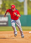 7 March 2013: Washington Nationals infielder Matt Skole hustles to third during a Spring Training game against the Houston Astros at Osceola County Stadium in Kissimmee, Florida. The Astros defeated the Nationals 4-2 in Grapefruit League play. Mandatory Credit: Ed Wolfstein Photo *** RAW (NEF) Image File Available ***