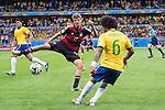 Thomas Muller (GER), Marcelo (BRA), JULY 8, 2014 - Football / Soccer : FIFA World Cup Brazil 2014 Semi Final match between Brazil 1-7 Germany at Estadio Mineirao in Belo Horizonte, Brazil. (Photo by Maurizio Borsari/AFLO)