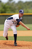 Peter Woodworth (32) Pitcher for the GCL Rays delivers a pitch during a game against the GCL Twins on July 16th, 2010 at Charlotte Sports Park in Port Charlotte Florida. The GCL Rays are the the Gulf Coast Rookie League affiliate of the Tampa Bay Rays. Photo by: Mark LoMoglio/Four Seam Images