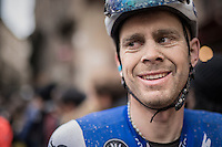 Julien Vermote's (BEL/QuickStep Floors) post-race face<br /> <br /> 11th Strade Bianche 2017