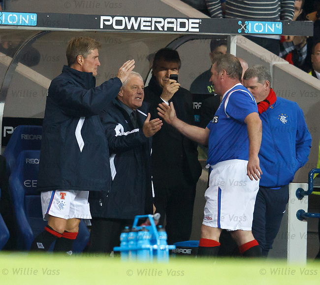 Ally McCoist gers the seal of approval from gaffer for the night Walter Smith