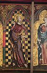 Saint Paul, Medieval Retable painting, church of Saint Mary, Thornham Parva, Suffolk, England, UK