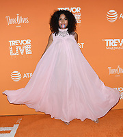 02 December 2018 - Beverly Hills, California - Indya Moore . 2018 TrevorLIVE Los Angeles held at The Beverly Hilton Hotel. <br /> CAP/ADM/BT<br /> &copy;BT/ADM/Capital Pictures