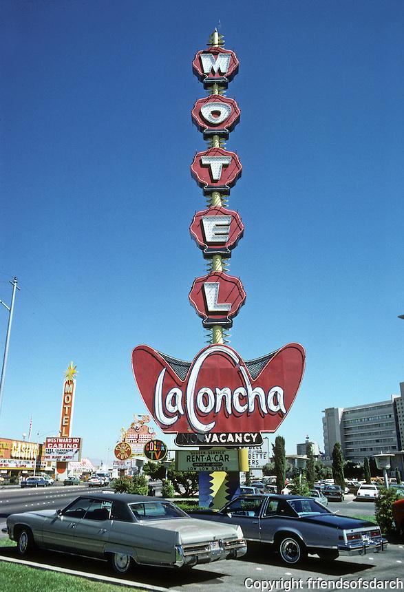 Las Vegas: La Concha Motel--sign. Photo '79.