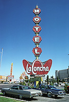 Las Vegas: La Concha Motel--sign. Photo '79.