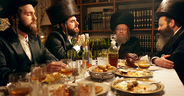 YIFTACH KLEIN (2ND FROM L), CHAIM SHARIR (CTR)<br /> in Fill the Void (2012) <br /> (Lemale et ha'halal)<br /> *Filmstill - Editorial Use Only*<br /> CAP/FB<br /> Supplied by Capital Pictures