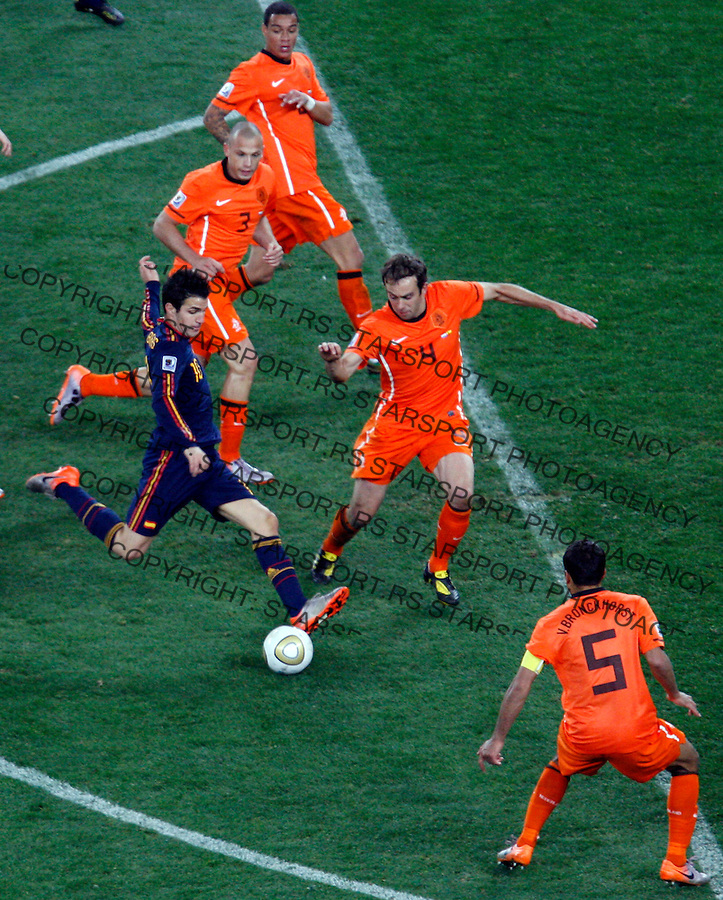 Cesc Fabregas, Soccer, Football - 2010 FIFA World Cup - Johannesburg, South Africa, Sunday, July, 11, 2010. Final match, Netherlands vs Spain, Soccer City Stadium (credit & photo: Pedja Milosavljevic / +381 64 1260 959 / thepedja@gmail.com / STARSPORT )