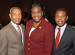 John Guess Jr., councilwoman Wanda Adams and Adrian Patterson at the City of Houston's Birthday Bash at the George R. Brown Convention Center Tuesday Aug. 19,2008.(Dave Rossman/For the Chronicle)