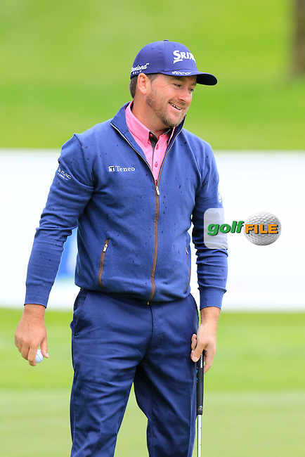 Graeme McDowell (NIR) misses his putt on the 11th green during Sunday's Final Round of the 2016 Dubai Duty Free Irish Open hosted by Rory Foundation held at the K Club, Straffan, Co.Kildare, Ireland. 22nd May 2016.<br /> Picture: Eoin Clarke | Golffile<br /> <br /> <br /> All photos usage must carry mandatory copyright credit (&copy; Golffile | Eoin Clarke)