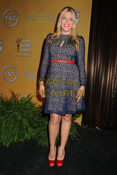 Busy Philipps.19th Annual Screen Actors Guild Awards Nominations Announcement held at the Pacific Design Center, West Hollywood, California, USA..December 12th, 2012.SAG full length red lace dress belt shoes.CAP/ADM/BP.©Byron Purvis/AdMedia/Capital Pictures.