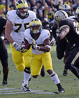 Michigan wide receiver Jeremy Gallon (10). The Michigan Wolverines defeated the Purdue Boilermakers 44-13 on October 6, 2012 at Ross-Ade Stadium in West Lafayette, Indiana.