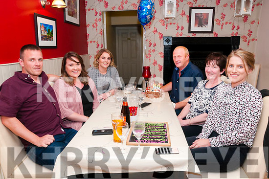 60th Birthday : Joe Shanahan, Listowel celebrating his 60th birthday with family at Eabha Joan;s Restaurant, Listowel on Saturday night last. L-R: Barry, Sarah, Gillian, Joe & Eileeen Shanahan & Patricia Doran.
