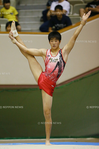 Ren Mukainakano (), <br /> AUGUST 21, 2017 - Artistic Gymnastics : <br /> 48th All Japan Junior High School Championships <br /> Men's Individual All-Around <br /> Floor Exercise <br /> at Kitakyushu City General Gymnasium, Fukuoka, Japan. <br /> (Photo by YUTAKA/AFLO)