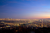 Los Angeles Skyline and City Lights, California ,USA