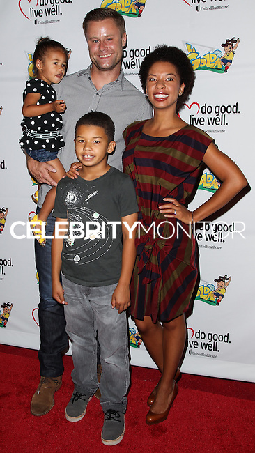 WESTWOOD, LOS ANGELES, CA, USA - JUNE 21: Eric Nenninger, Angel Parker at the Los Angeles Premiere Of 'La Golda' held at The Crest on June 21, 2014 in Westwood, Los Angeles, California, United States. (Photo by Celebrity Monitor)
