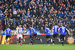04.11.2018, Sch&uuml;coArena / Schueco Arena, Bielefeld, Deutschland, GER, 2. FBL, DSC Arminia Bielefeld vs. FC St. Pauli<br /> <br /> DFL REGULATIONS PROHIBIT ANY USE OF PHOTOGRAPHS AS IMAGE SEQUENCES AND/OR QUASI-VIDEO.<br /> <br /> im Bild Torjubel / Jubel Bielefeld nach 1-0 durch Roberto Massimo (#22 Bielefeld)<br /> <br /> Foto &copy; nordphoto / Kurth