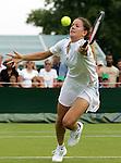 Tennis All England Championships Wimbledon Patty Schnyder (SUI) spielt eine Vorhand in ihrem Spiel gegen A. Serra Zanetti (ITA).