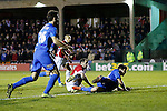 Stephen O'Halloran of Salford City scores the equalising goal - Salford City vs Hartlepool United - The Emirates FA Cup - Moor Lane - Salford - 04/12/2015 Pic Philip Oldham/SportImage