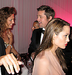 **EXCLUSIVE**.Olivia Cole with Angelina Jolie and Brad Pitt..Inglourious Basterds Post Premiere Party..Baoli Beach..2009 Cannes Film Festival..Cannes, France..Wednesday, May 20, 2009..Photo By Celebrityvibe.com.To license this image please call (212) 410 5354; or Email: celebrityvibe@gmail.com ; .website: www.celebrityvibe.com..