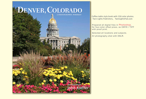 Long a fan of Denver, another great assignment. All file prep for press done in Photoshop by John Kieffer.