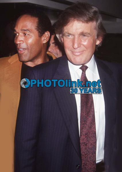 Donald Trump OJ Simpson 1993<br /> Photo by John Barrett/PHOTOlink.net