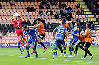 Solihull Moors goalkeeper, Ryan Boot, catches the ball to foil a Barnet attack during Barnet vs Solihull Moors, Vanarama National League Football at the Hive Stadium on 28th September 2019