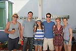Billy Magnussen, Tom Pelphrey, Alexandra Chando, Eric Sheffer Stevens, Meredith Hagner and Marnie Schulenburg donate their time at the 12th Annual SoapFest - Painting Party to benefit Marco Island YMCA, theatre program & Art League of Marco Island on May 15, 20010 on Marco Island, FLA. (Photo by Sue Coflin/Max Photos)
