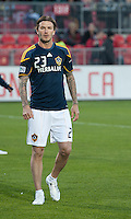 13 April 2011: Los Angeles Galaxy midfielder David Beckham #23 warms up during an MLS game between Los Angeles Galaxy and the Toronto FC at BMO Field in Toronto, Ontario Canada..The game ended in a 0-0 draw.