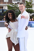 """Perri Shakes-Drayton and Hamish Gaman<br /> at the """"Dancing on Ice"""" launch photocall, natural History Museum, London<br /> <br /> <br /> ©Ash Knotek  D3365  19/12/2017"""