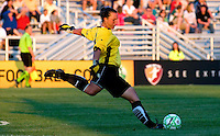 Saint Louis Athletica goalkeeper Jillian Loyden (13) prepares to kick during a WPS match against the Sky Blue FC at Anheuser-Busch Soccer Park, in St. Louis, MO, July 22, 2009. Athletica won the match 1-0.
