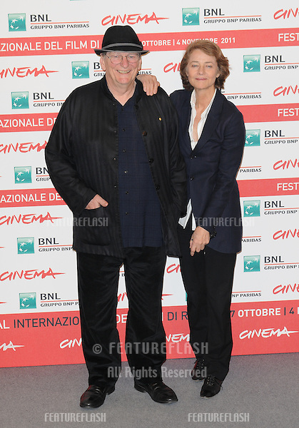 "Fred Schepisi and Charlotte Rampling attend the photocall of ""The Eye of the Storm"" during the 6th International Rome Film Festival..October 30, 2011, Rome, Italy.Picture: Catchlight Media / Featureflash"