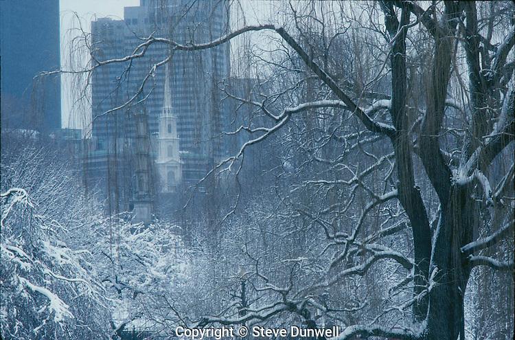 Winter, snow, Public Garden