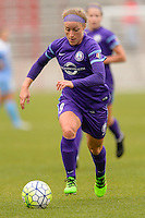 Bridgeview, IL, USA - Sunday, May 1, 2016: Orlando Pride forward Josee Belanger (9) during a regular season National Women's Soccer League match between the Chicago Red Stars and the Orlando Pride at Toyota Park. Chicago won 1-0.