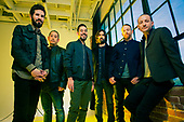 LINKIN PARK -  photographed in Hollywood, CA USA - April 8, 2014.  Photo Credit: Kevin Estrada / Iconicpix